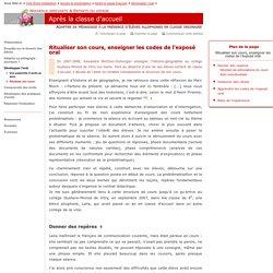 Canopé Créteil - Ritualiser son cours, enseigner les codes de l'exposé oral