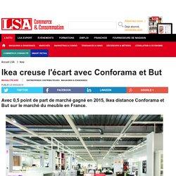 Ikea creuse l'écart avec Conforama et But - Marché maison
