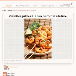Crevettes grillées à la noix de coco et à la lime