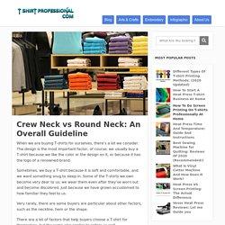 Crew neck vs round neck