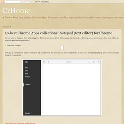 CrHome: 10-best Chrome Apps collections: Notepad (text editor) for Chrome
