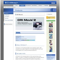 CRI Movie 2 - CRI Middleware, Inc.