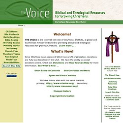 CRI/Voice, Institute - The Voice, Main Menu