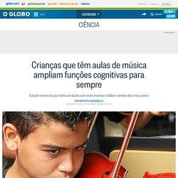 Crianças que têm aulas de música ampliam funções cognitivas para sempre
