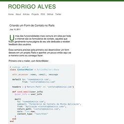 Rodrigo Alves Vieira: Criando um form de contato no Rails