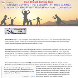 100 % Cricket Betting Tips & Prediction -Cricbettip