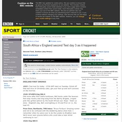 Cricket - Live - South Africa v England