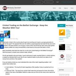 Betfair Exchange Cricket Trading
