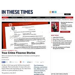 True Crime Finance Stories