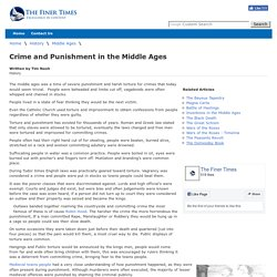 Crime and Punishment in the Middle Ages