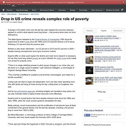 Drop in US crime reveals complex role of poverty