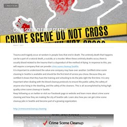 Crime scene cleanup Seattle