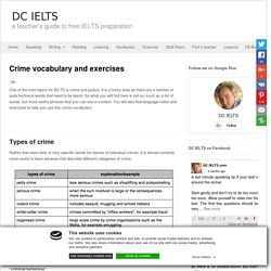 Crime vocabulary and exercises