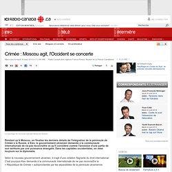 Crimée : Moscou agit, l'Occident se concerte