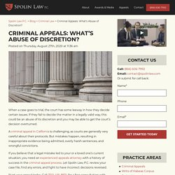 Criminal Appeals: What's Abuse Of Discretion?