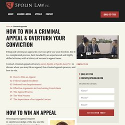California criminal appeals: Terms and definition