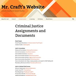 Criminal Justice Assignments and Documents