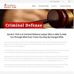 criminal defense attorney baltimore md