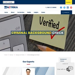 Criminal Background Check Services in United Kingdom with Netrika