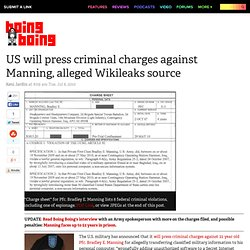 US will press criminal charges against Manning, alleged Wikileak
