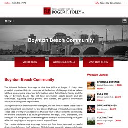 Find Criminal Defense Attorney In Boynton Beach, FL