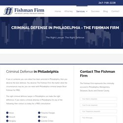 Hire Experienced Criminal Lawyers, Philadelphia PA - Fishman Firm