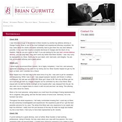 Criminal Defense Testimonials/Reviews Orange County –Brian Gurwitz
