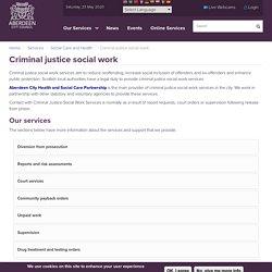 Criminal justice social work