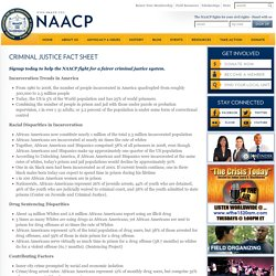 Criminal Justice Fact Sheet
