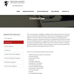 Excellent strong defense Criminal lawyer in Ottawa - FMLPC
