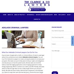 The Leading Adelaide Criminal Lawyers