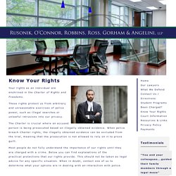 Criminal Lawyers in Toronto - Rusonik, O'Connor, Robbins, Ross, Gorham & Angelini LLP