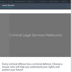 Criminal Legal Services at JDA Criminal Law Firm Melbourne