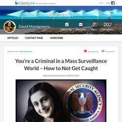 You're a Criminal in a Mass Surveillance World – How to Not Get Caught