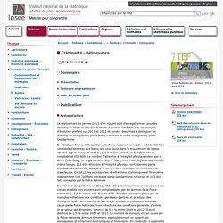Conditions de vie-Société - Criminalité - Délinquance