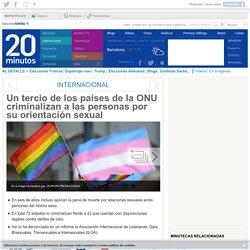 Un tercio de los países de la ONU criminalizan a las personas por su orientación sexual