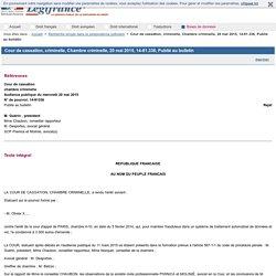 Cour de cassation, criminelle, Chambre criminelle, 20 mai 2015, 14-81.336, Publié au bulletin