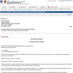 Cour de cassation, criminelle, Chambre criminelle, 4 mars 2008, 07-84.002, Inédit