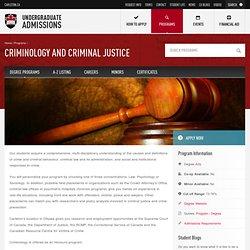 Criminology and Criminal Justice - Undergraduate Admissions - Carleton University