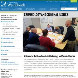 Department of Justice Studies - Partnering Agencies - Criminal Justice