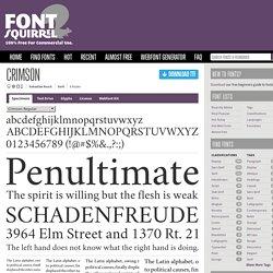 Free Font Crimson by Sebastian Kosch