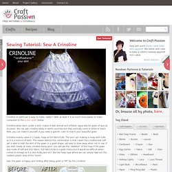 Sewing Tutorial: Sew A Crinoline
