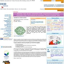 CRIOC 06/02/14 Scandale de la viande de cheval - Du côté des consommateurs - Alimentation