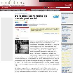 De la crise économique au monde post social