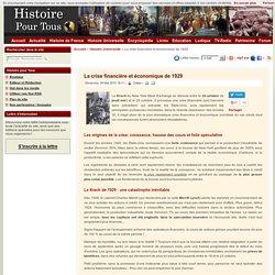 La crise financière et économique de 1929