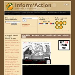 USA 2014 : Vers une crise Financière pire que celle de 2008