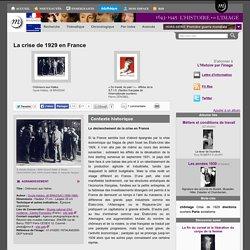 La crise de 1929 en France