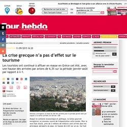 La crise grecque n'a pas d'effet sur le tourisme