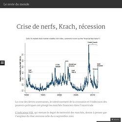 Du Krach à la récession?