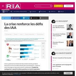 La crise renforce les défis des IAA